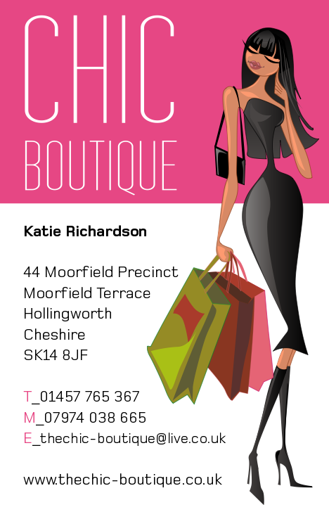 The Chic Boutique Business Card Design The Bimbo Blog