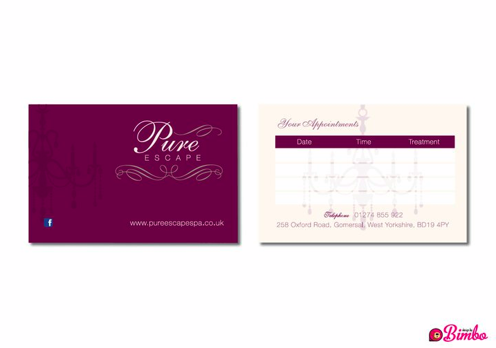 Appointment cards} Deliciously thick appointment cards, matt ...